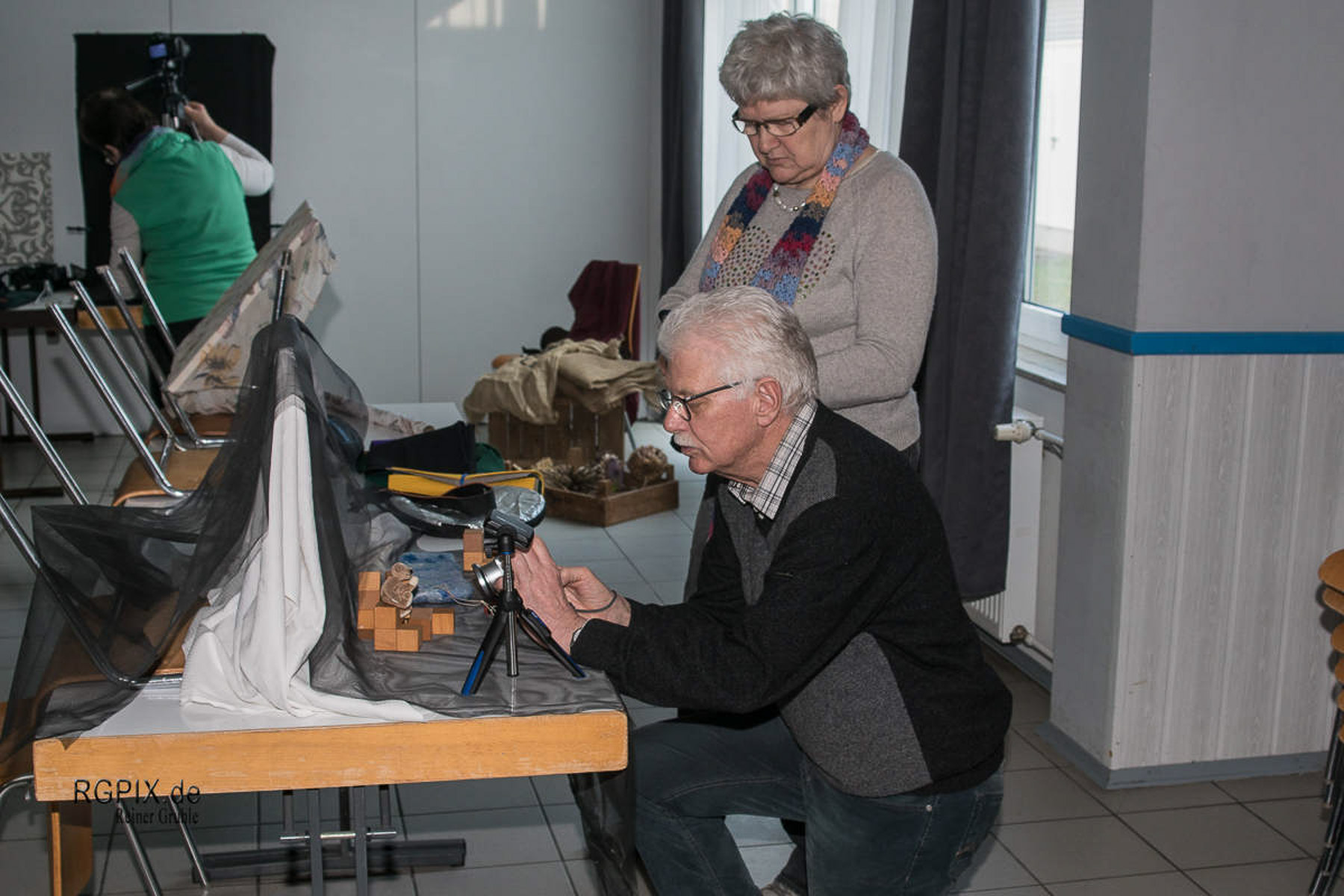 Olaf an Ingrids Aufbau (2) (Foto: Reiner Gruhle)