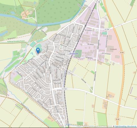 Karte Altrheinhalle Sockstadt - Kulturraum (OpenStreetMap.de)