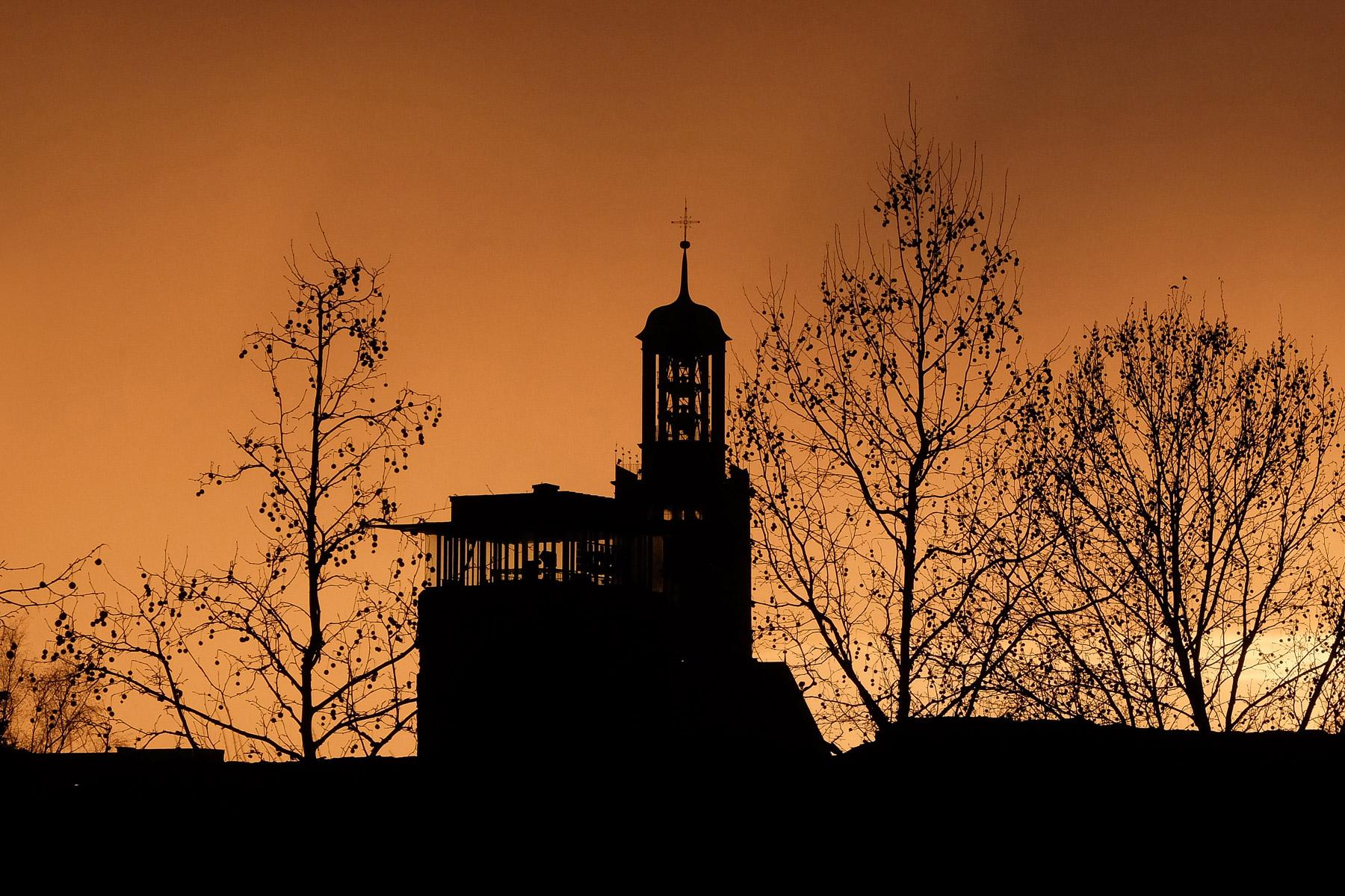 Abendhimmel in Darmstadt (Foto: Olaf Nagel)
